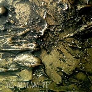 złote obrazy do salonu efektowny metaliczny obraz