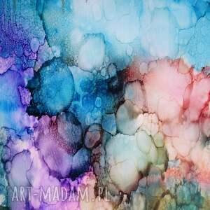 homedecore flaming w tęczowej mgle - obraz