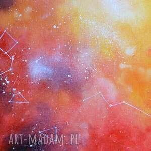 wyjątkowe abstrakcja galaktyka w czerwieni, pomarańczu