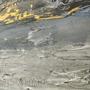 Geometria - obraz ręcznie malowany o bogatej fakturze 80x80 cm