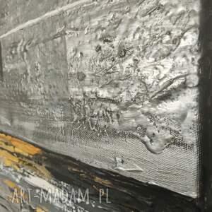 Geometria - obraz ręcznie malowany o bogatej fakturze 80x80 cm do salonu