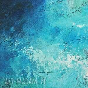 obraz obrazy niebieskie głębia 28, abstrakcja, nowoczesny