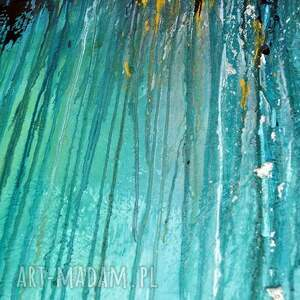 obraz obrazy turkusowe głębia 20, abstrakcja, nowoczesny