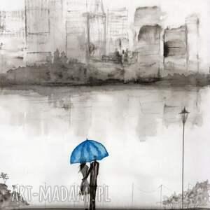 obrazy ręcznie malow grafika 29x40 cm wykonana