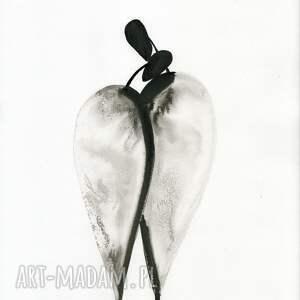 ART Krystyna Siwek szare obraz do salonu grafika 30x40 cm wykonana ręcznie