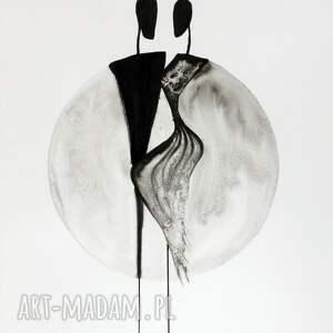 szare grafiki do salonu grafika 40x50 cm wykonana ręcznie