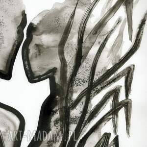 szare obraz do salonu grafika 50x70 cm wykonana ręcznie