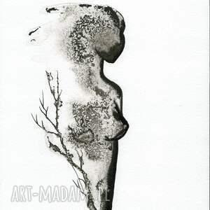 gustowne obrazy minimalizm grafika a4 malowana ręcznie