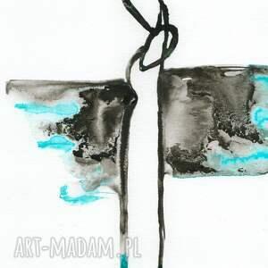 szare obraz do salonu grafika a4 malowana ręcznie