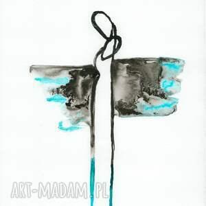 frapujące minimalizm grafika a4 malowana ręcznie