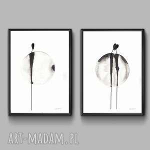 czarne obrazy minimalizm grafika czarno biała, rysunek