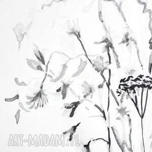 Grafika ręcznie wykonana czarno biała A4, elegancki minimalizm, do salonu obrazy grafiki