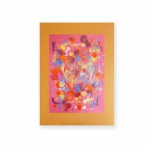 pomarańczowe design grafika w ciepłych kolorach