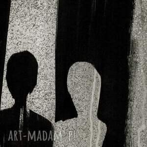 obrazy ręcznie malowane białe grafika 70 x 100 cm wykonana