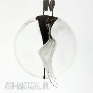 szare grafiki do salonu grafika 40 x 50 cm wykonana ręcznie