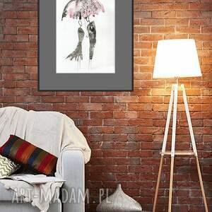 niekonwencjonalne obrazy minimalizm grafika 30x40 cm wykonana ręcznie
