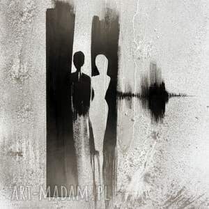 szare obrazy obraz-do-salonu grafika 70 x 100 cm wykonana