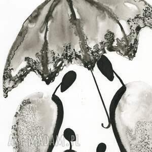 szare obraz do salonu grafika 30x40 cm wykonana ręcznie