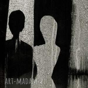 grafika 70 x 100 cm wykonana ręcznie, abstrakcja, elegancki minimalizm, obraz obrazy malowane