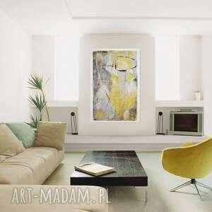 obraz szare grot 2, abstrakcja, nowoczesny