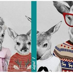 modne obrazy hipsterska rodzina jeleni 02202