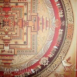 brązowe płótno kalachakra mandala 2