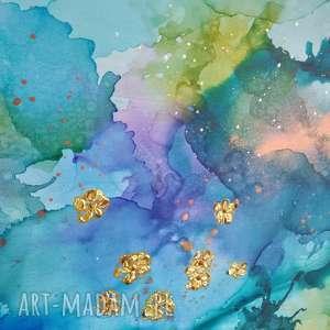 """dosalonu obrazy turkusowe """"kolibry w tęczowej mgle"""""""