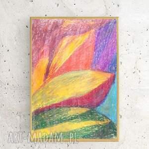 oryginalne abstrakcyjna ręcznie wykonany rysunek. praca