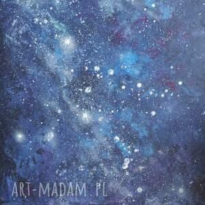 kosmos - abstrakcja na płótnie