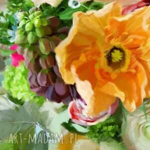 kwiaty obrazy bukiet w wazonie