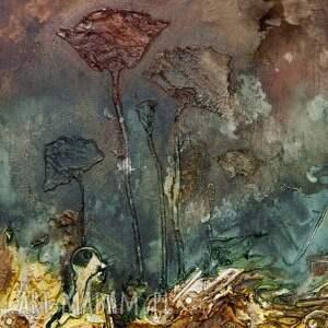 obrazy abstrakcja kwiaty