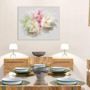 białe obraz obrazy kwiaty na płótnie piwonie 90
