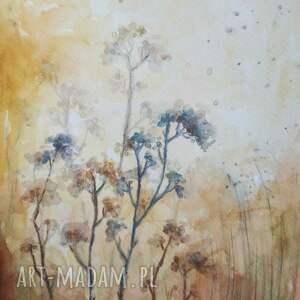 trawy listopadowe -akwarela formatu