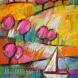 obrazy rysunek mazury - pastelami suchymi