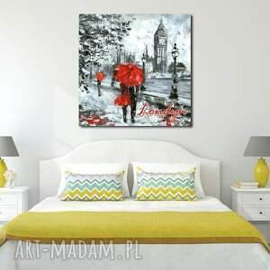 niesztampowe obrazy obraz miasto londyn 9 - 80x80cm xxl