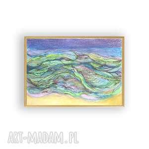 gustowne morze obraz oprawiony, rysunek