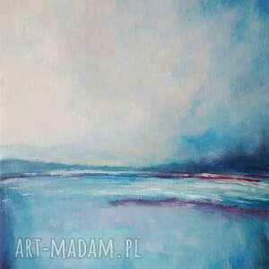 frapujące morze w kolorach blue obraz
