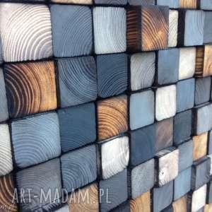 szare mozaika drewniana na