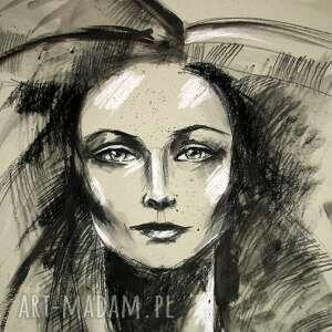 obrazy unikat nina - portret 50x70 cm