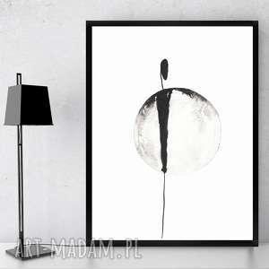 nowoczesna grafika czarno biała, abstrakcyjna do ramki 20x30,grafika About obrazy grafiki