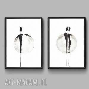 intrygujące nowoczesne obrazy nowoczesna grafika czarno biała
