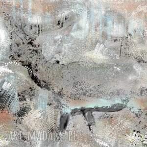 szary białe nowoczesny obraz na płótnie