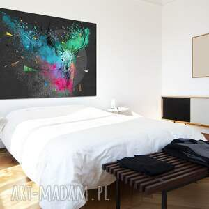 ludesign gallery Nowoczesny obraz do salonu drukowany na płótnie z kolorowym, abstrakcyjnym abstrakcja