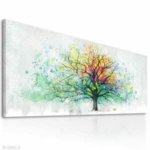 intrygujące drzewo obraz nowoczesny do salonu