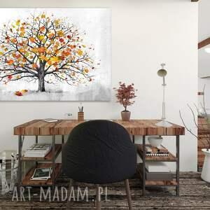 obraz pomarańczowe nowoczesny do salonu