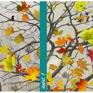 jesień beżowe nowoczesny obraz do salonu