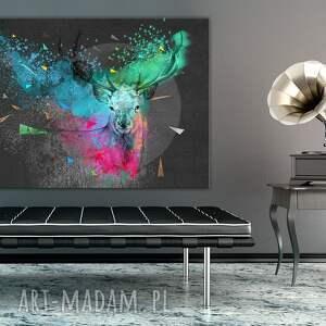 ludesign gallery niepowtarzalne jeleń nowoczesny obraz do salonu