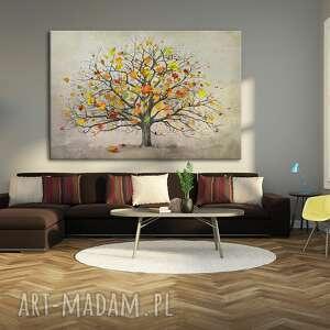 intrygujące jesień nowoczesny obraz do salonu