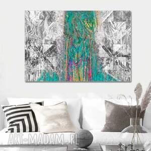 czarne obrazy las nowoczesny obraz abstrakcja las 120