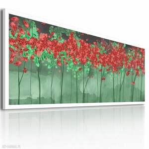 ludesign gallery zielone liście nowoczesny obraz drukowany